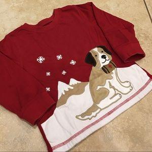 3T Gymboree St Bernard Dog Appliqué  Long-Sleeve T